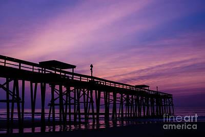 Fernandina Fishing Pier At Sunrise Art Print by Dawna  Moore Photography