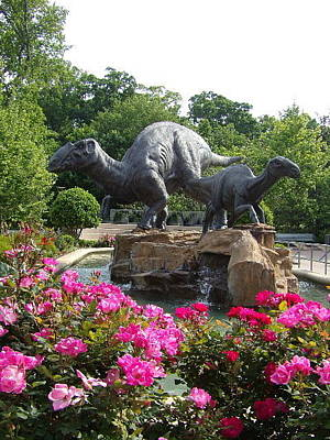 Photograph - Fernbank's Dinosaurs by Georgia Hamlin