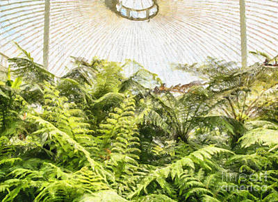 Digital Art - Fernery by Liz Leyden