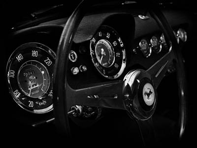 Photograph - Ferrari 250 Gt Interior by Mark Rogan