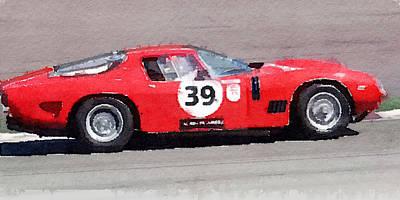 Ferrari 250 Gtb Swb Bizzarrini Watercolor Art Print by Naxart Studio