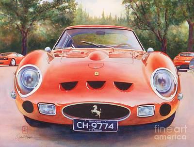 Automobilia Painting - Ferrari 250 Gto by Robert Hooper