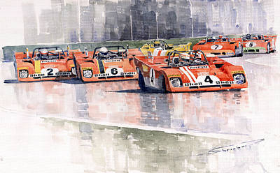 Ferrari 312 Pb Daytona 6 Hours 1972 Print by Yuriy  Shevchuk