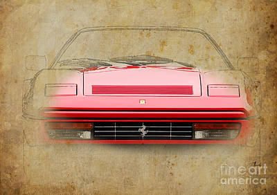 Transport Mixed Media - Ferrari 328 Gts by Pablo Franchi