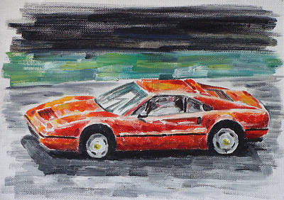 Ferrari 328 Art Print by Ildus Galimzyanov