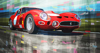 Transportation Mixed Media - Ferrari 330 Gto 1962 by Yuriy Shevchuk