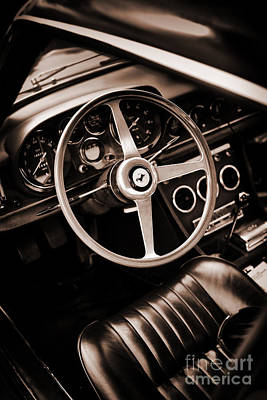 60s Photograph - Ferrari 330 Sepia by Tim Gainey
