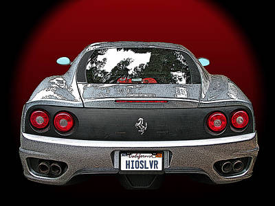 Photograph - Ferrari 360 Modena Rear View by Samuel Sheats