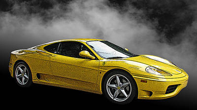 Ferrari 360 Modena Side View Art Print