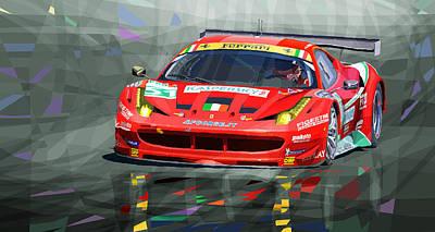Transportation Mixed Media - 2012 Ferrari 458 Gtc Af Corse by Yuriy Shevchuk