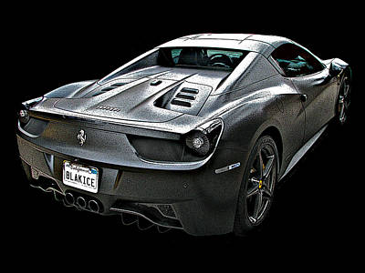 Photograph - Ferrari 458 Italia In Matte Black Rear by Samuel Sheats