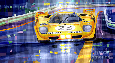 Spa Digital Art - Ferrari 512 S Spa 1970 Derek Bell  by Yuriy  Shevchuk