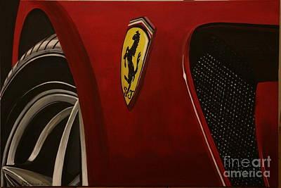 Ferrari 599 Gtb Fiorano Art Print by Richard John Holden RA