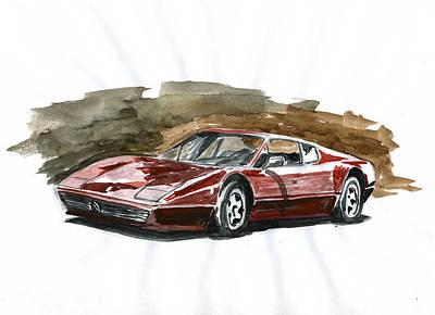 Ferrari Bb 512 Art Print by Ildus Galimzyanov