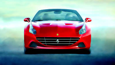 Ferrari California Art Print by Brian Reaves