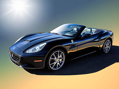Italian Digital Art - Ferrari California by Douglas Pittman