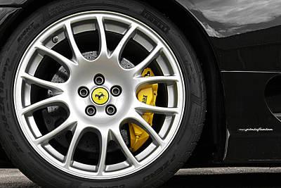 Photograph - Ferrari Challenge Stradale Wheel by Gill Billington