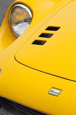 Photograph - Ferrari Dino Hood Emblem 2 by Jill Reger