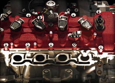 Photograph - Ferrari Engine by Radoslav Nedelchev