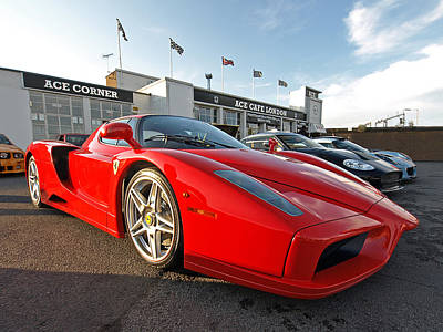 Photograph - Ferrari Enzo At The Ace Cafe by Gill Billington
