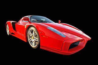 Photograph - Ferrari Enzo On Black by Gill Billington