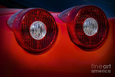 Photograph - Ferrari Enzo Tail Lights by Ken Johnson