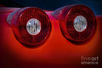 Photograph - Ferrari Enzo Tail Lights by Ken Johnson