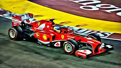 Painting - Ferrari F1 Beauty by Florian Rodarte