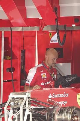 Photograph - Ferrari F1 Garage by David Grant