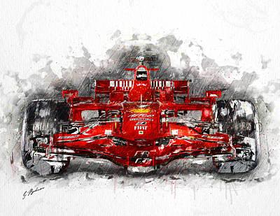 Ferrari F1 Art Print by Gary Bodnar