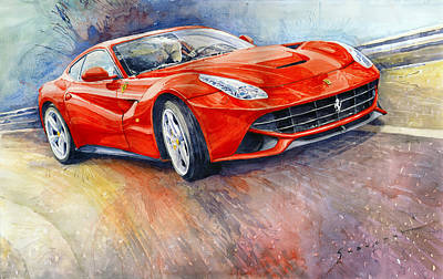 Classic Car Painting - 2014 Ferrari F12 Berlinetta  by Yuriy Shevchuk