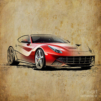 Transport Mixed Media - Ferrari F12 by Pablo Franchi