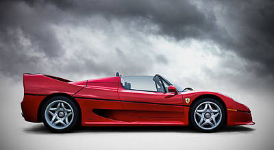 Automotive Digital Art - Ferrari F50 by Douglas Pittman