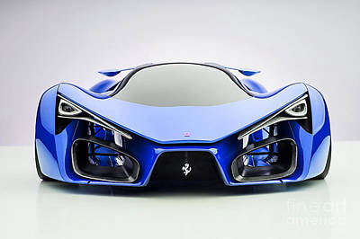 Cave Mixed Media - Ferrari F80 Eye Candy Blue by Marvin Blaine