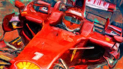 Digital Art - Ferrari Finnish by Alan Greene