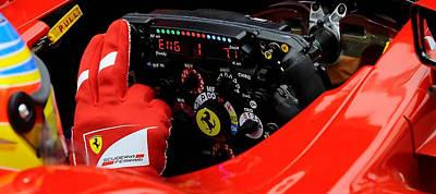 Digital Art - Ferrari Formula 1 Cockpit by Marvin Blaine