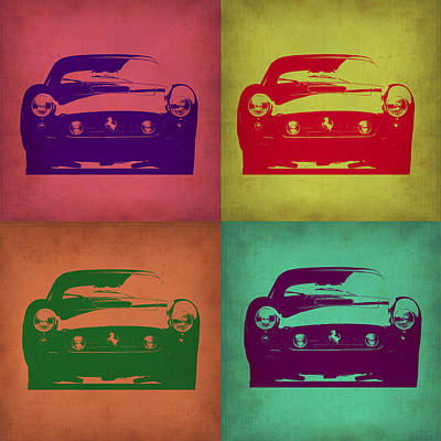 American Digital Art - Ferrari Front Pop Art 1 by Naxart Studio