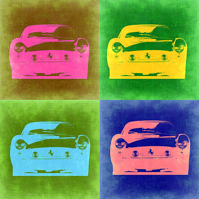 Old Car Painting - Ferrari Front Pop Art 3 by Naxart Studio