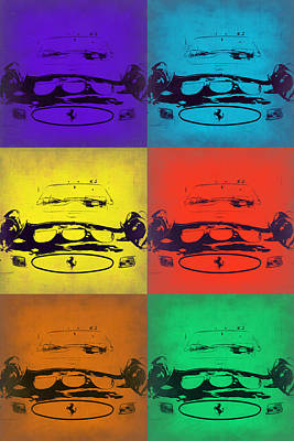 Old Painting - Ferrari Front Pop Art 5 by Naxart Studio