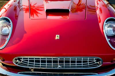Photograph - Ferrari Grille Emblem -0504c by Jill Reger