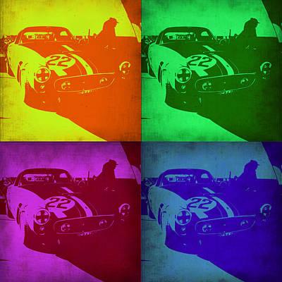 Old Cars Painting - Ferrari Gto Pop Art 1 by Naxart Studio