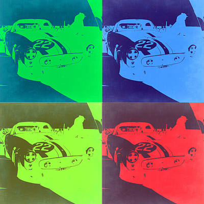 Vintage Cars Painting - Ferrari Gto Pop Art 2 by Naxart Studio