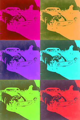 European Cars Mixed Media - Ferrari Gto Pop Art 3 by Naxart Studio
