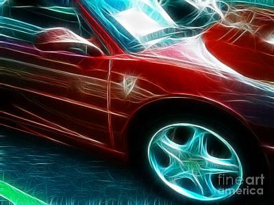 Ferrari In Red Art Print by Paul Ward