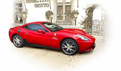 Ferrari Art Print by John Hix