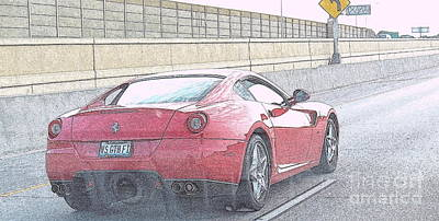 Photograph - Ferrari by Kay Novy