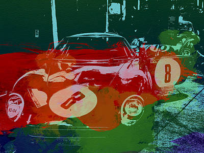 Vintage Cars Painting - Ferrari Laguna Seca Racing by Naxart Studio