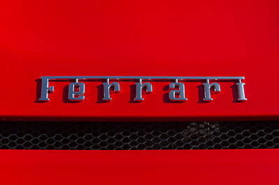 Photograph - Ferrari Name Badge by Roger Mullenhour