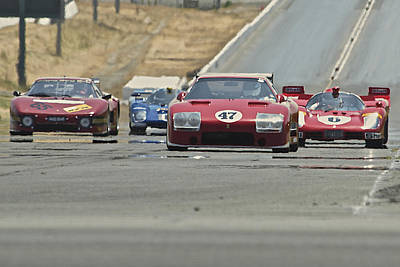 Sports Royalty-Free and Rights-Managed Images - Ferrari Nostalgia In the Heat by Dave Koontz