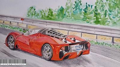 Sportscar Painting - Ferrari P4/5  by Vidya Vivek